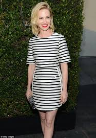 january jones is magnetic in magenta as she steps out in vibrant