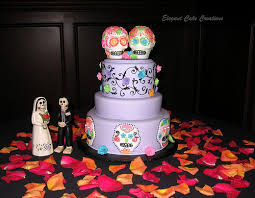 day of the dead wedding cake 25 wedding cakes with skulls