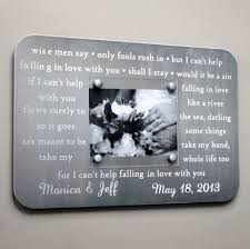 engraved anniversary gifts engraved metal picture frame anniversary gift personalized with