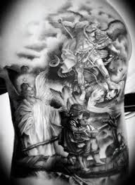 black and grey of an king by piotr dedel intenze ink