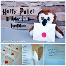 harry potter birthday invites by u201cjust another day in paradise