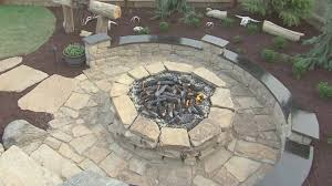 How To Build A Stone Firepit by How To Build A Round Stone Fire Pit Round Designs