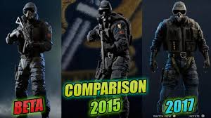 comparaison siege auto beta vs 2015 vs 2017 rainbow six siege comparison menu operators