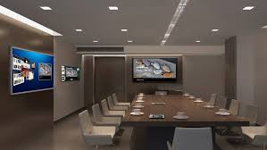 home office high tech conference room render modern new 2017