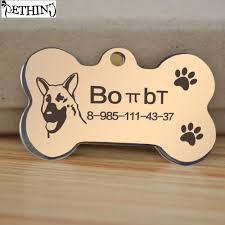Custom Gold Dog Tags Online Get Cheap Gold Personalized Dog Tag Aliexpress Com
