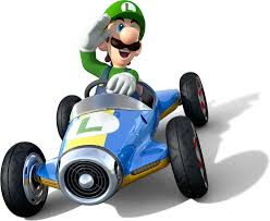 luigi from nintendo and the super mario bros series luigi in mario kart 8 official game art