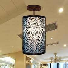 copper wrought iron semi flush mount ceiling lights