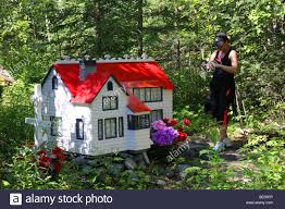 toy house on christian russian orthodox cemetery alaska young