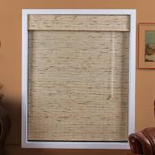 arlo blinds 04tbk petite tropical rustic bamboo roman shade the mine