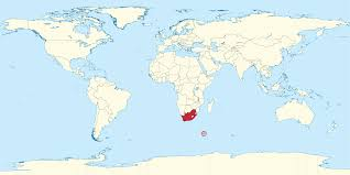 Cuba On A World Map South Africa On World Map South Africa On World Map South