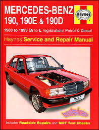 shop manual mercedes 190 service repair book 190e 190d haynes 2 3