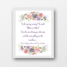 what is spring the secret garden quote is spring coming printable wall art