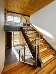 Stair Landing Rug Salt Lake City Railings For Stairs Staircase Modern With Landing