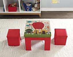 dorel home furnishings red folding kids table ottoman set with