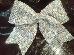 cheer bows uk bling cheer bow silver 3 size sparkly
