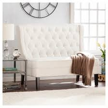 Target Settee Linkwell High Back Tufted Settee Bench Ivory Target