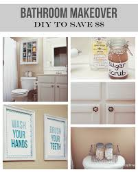 Small Bathroom Shelf Bathroom Makeover On The Cheap 1 Art Homemaking Craft And