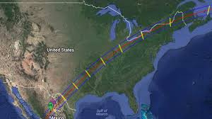 Gulf Of Mexico Block Map by Another Eclipse Coming To North America In 2024 U2013 Kobi Tv Nbc5