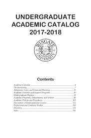 wuundergraduatecatalog by wingate university issuu