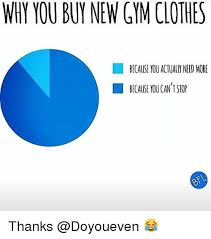 Gym Clothes Meme - why you buy new gym clothes because you actually need more because