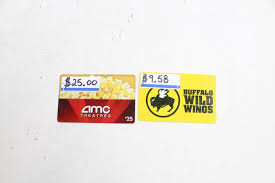 amc gift card deals amc and buffalo winds gift cards 34 58 2 pieces property room
