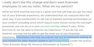 evernote u0027s privacy policy allows its employees to read your notes
