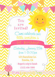 you are my sunshine birthday party invitation yellow chevron