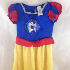 disney store snow white dress costume halloween dress up size 7 8