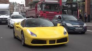 ferrari yellow car yellow ferrari 488 gtb driving in london youtube