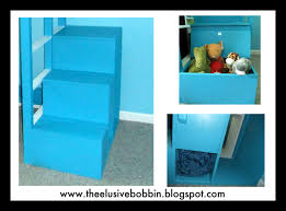 Plans For Loft Bed With Steps by The Elusive Bobbin Free Storage Stairs Plans For A Loft Bed