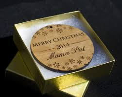personalized ornaments tagged