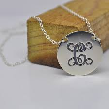 monogram disc necklace wholesale sterling silver monogram disc necklace personalized