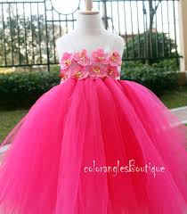 pink flower dress tutu dress toddler birthday