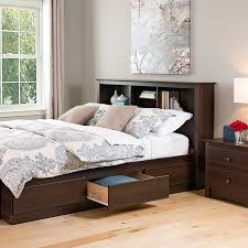 Queen Size Bed With Trundle Amazon Com Espresso Full Queen Bookcase Headboard Headboard Full