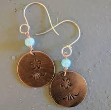 workshop u2013 stamped copper earrings one columbia