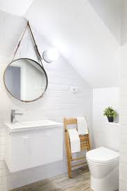 round hanging bathroom mirror for fascinating decor with sloped