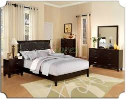 Style Bedroom Furniture by Bedroom Beautiful Leather Headboard With Luxury Duvet Cover For