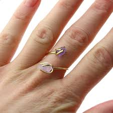 amethyst stone rings images Rough amethyst stone wrap ring by amelia may jpg
