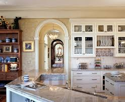 arch design kitchen traditional with canister set undermount sink