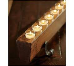 Pottery Barn In Baltimore It U0027s A Baltimore Life Diy Wood Block Votive Holder But With