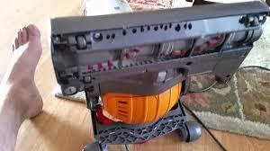 dyson vacuum fix hard to push through thick carpet youtube