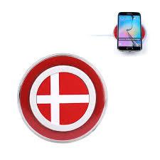 Dansk Flag Qi Wireless Charging Pad Trådløs Oplader M Dansk Flag