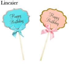 birthday cake toppers lincaier 5 pieces happy birthday cupcake cake topper birthday