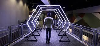 led design led tunnel church stage design ideas