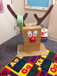 reindeer ring toss i made easy party game to make cardboard box