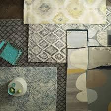Prism 3 Piece Rug Set Vines Wool Rug Blue Lagoon West Elm