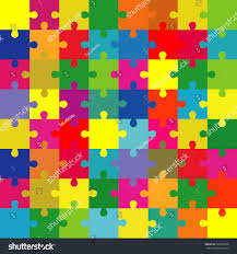 puzzle split complementary colors vector stock vector 396593068