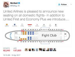 united airlines u0027fight club u0027 meme shows how airlines view coach