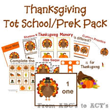 printable thanksgiving preschool pack from abcs to acts