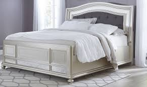 silver bed coralayne silver bedroom set from ashley b650 157 54 96